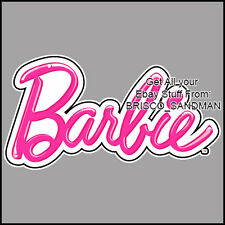 Fridge Fun Refrigerator Magnet BARBIE LOGO - Specialty Die Cut - Pink Princess