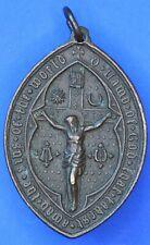 More details for 1862 christian bronze pendant /medallion, crucifix [22296]