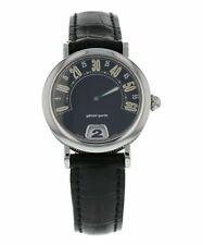 Gerald Genta Retro Jumping-Hour 28mm Quartz Ladies Leather Watch G.3624