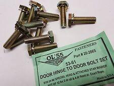 Set East Coast Chevy 20-286S 1953 - 1961 car door hinge to door bolts washers