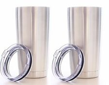 2 Lot Eskimo Coolers Stainless Steel Double Wall Vacuum Insulated Tumbler w/ Lid