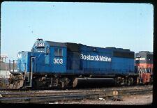 Original Rail Slide - B&M Boston & Maine 303 Boston 10-18-1987