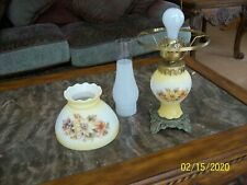 Accurate Casting Co. Inc. GWTW Hurricane Table Parlor Lamp Fall Floral Design