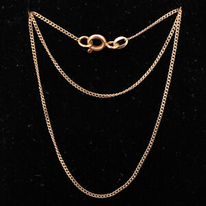 Vintage 22'' Long 14ct ROSE Gold Curb Chain