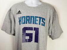 🔥 adidas Originals NBA Basketball Charlotte Hornets T-Shirt Gray  XXL NWT