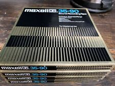 More details for 4x maxwell ultra dynamic ud 35-90b sound recording tape 35 micron