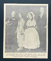 1938 Newspaper Clipping CINEMA BALL AT THE BELFAST PLAZA, COSTUMES, FRANKENSTEIN