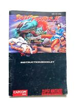Street Fighter II 2 SNES Super Nintendo MANUAL ONLY! Instruction Booklet!