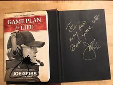 2 Books : JOE GIBBS Signed Autograph GAME PLAN FOR LIFE & Racing To Win Book