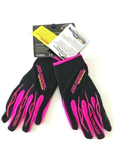 O'Neal Element Womens size 8 Large Pink Dirt Bike Motocross Gloves Stickers