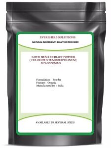 Safed Musli Extract Powder ( Chlorophytum Borivilianum ) 20% Saponins 100 % Pure