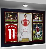 Lucas Torreira Arsenal pre-print poster signed autograph Framed in MDF Frame