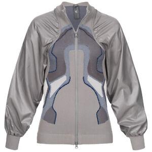 adidas x Stella McCartney Knit Midlayer Damen Freizeit Sport Jacke DT9384 grau