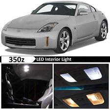 9x White Interior LED Lights Package Kit for 2003-2009 350z Fairlady Z + TOOL