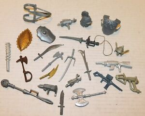 Galaxy Warriors Vintage 1985 Sungold Fighters MOTU KO Large Accessory Part Lot