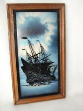 Ship Painting Reverse ~ Seascape Reverse Painting On Glass Realism Picture
