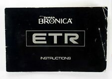 Bronica ETR Instruction Booklet, 38 pages, printed 1976