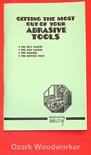 DELTA Getting Most Out of Your Abrasive Tools Book Manual 0211