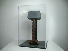 R1096164 THOR'S HAMMER WITH CUSTOM DISPLAY CASE AND STAND PROP REPLICA FACTORY X