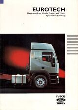 Iveco Ford EuroTech Trucks 1993 UK Market Specification Brochure