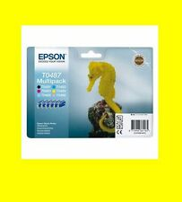 ORIG. Multipack t0487 Epson Stylus Photo rx500 rx600 rx620 rx640 NUOVO & OVP
