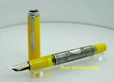 Special Edition Yellow Toledo Pelikan M910 Fountain Pen Nice 18k Gold Nib
