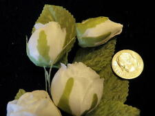 Vintage Millinery Flower Rose Spray White for Hat Wedding and Hair C33