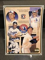 1992 UPPER DECK HEROES OF BASEBALL MONTREAL EXPOS PROMO SHEET #/22,000