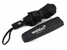 A prueba de viento paraguas de viaje compacto y con una sola mano Auto Abierto, Negro