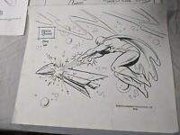 Vintage 1960's Hanna-Barbera Space Ghost Production Cel + drawing + model sheets