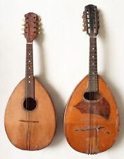 2 Mandoline plate Napolitaine instrument ancien mandolin A RESTAURER