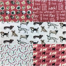Fabric Freedom 100% Cotton DOGS Craft & Dress Fabric Material