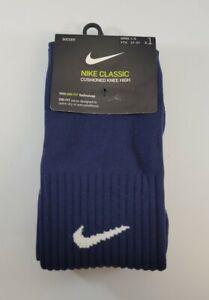 Nike Classic Knee High Soccer Socks, Kids Shoe 3Y-5Y, Navy Blue, SX5728-410 S2
