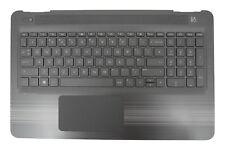 New HP Pavilion 15-AW Black/Grey Palmrest Touchpad Cover UK Keyboard 903367-031
