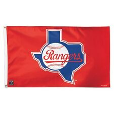 New listing Texas Rangers Cooperstown Retro Logo 3'X5' Deluxe Flag Brand New Wincraft