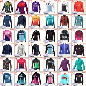 Winter cycling jersey women long sleeve thermal fleece bike tops bicycle uniform