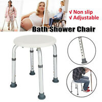 Premium Easily Adjustable 7Height Medical Shower Chair Bath Tub Seat Bench Stool