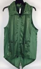 NEW Adidas Womens Size Med Clima C STORM Running Vest Reflective Green High Low