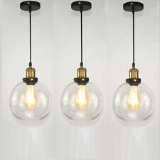 3X Kitchen Pendant Light Bar Glass Lamp Chandelier Lighting Home Ceiling Lights