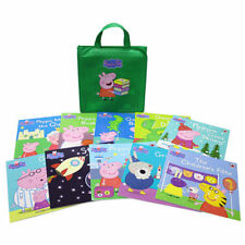 With Tags Collection of 10 Peppa Pig Books in a Canvas Bag