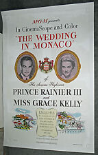 THE WEDDING IN MONACO orig 1956 Linen Backed one sheet movie poster GRACE KELLY
