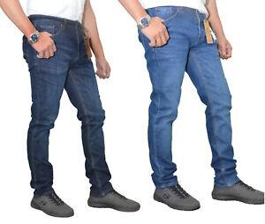 Jean for Men High Quality Branded Riverside Mid/Dark Blue Slim Fit Stretchable