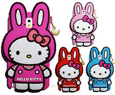 Hello Kitty Rabbit Costume Silicone Case W Gold Chain For Samsung Galaxy Note 3