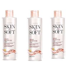 3 x Avon Skin So Soft Silky Moisture Ultra Body Lotion 250 ml  NEW stock