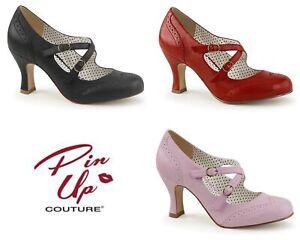 "Heels FLAPPER-35 - 3"" Kitten Heels Swing Dance Pin Up Couture"