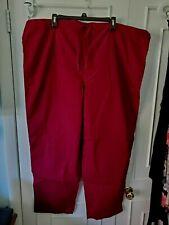 Tafford Wine Colored Essentials Unisex Size Xl Drawstring Scrub Uniform Pants