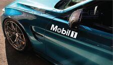 "Mobil 1 Decal sticker Racing F1 Mercedes Ferrari German BMW engine oil 12"" Pair"