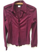 Vintage Casting France Boho Hippie Top Plum Faux Suade sz S Made in France