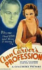 Ann Carver's Profession - 1933 - Fay Wray Gene Raymond Pre-Code Drama Film DVD