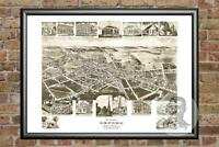 Old Map of Oxford, PA from 1907 - Vintage Pennsylvania Art, Historic Decor